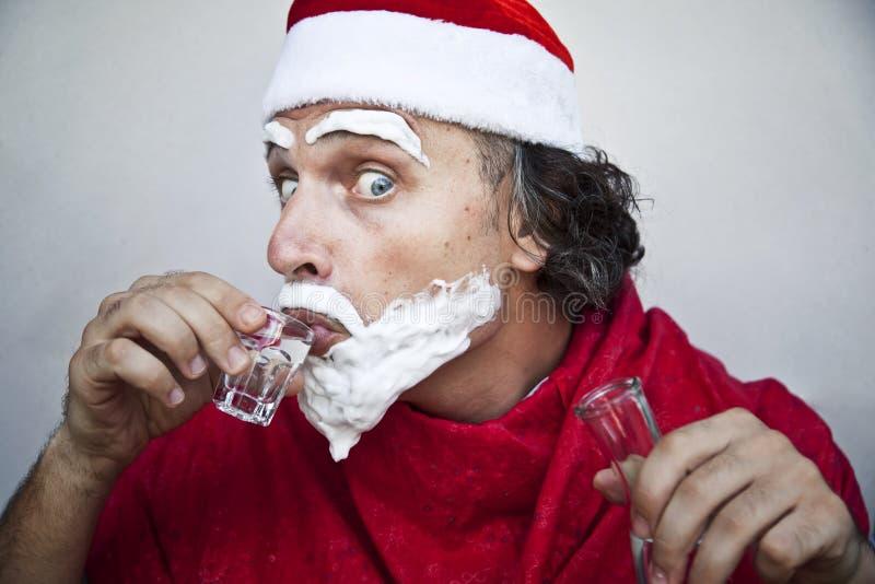 Il Babbo Natale molto cattivo fotografie stock libere da diritti