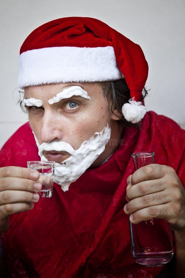 Il Babbo Natale molto cattivo immagine stock libera da diritti