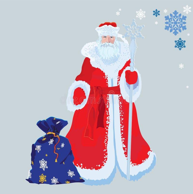 Il Babbo Natale russo illustrazione di stock