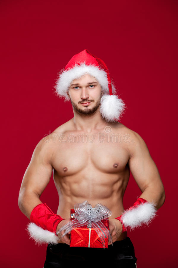 Il Babbo Natale sexy ha sorpresa per voi immagini stock libere da diritti