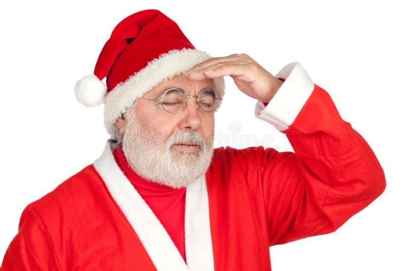 Il Babbo Natale sollecitato immagini stock