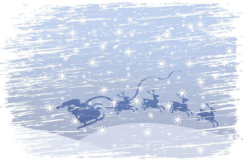 Il Babbo Natale sta venendo illustrazione di stock