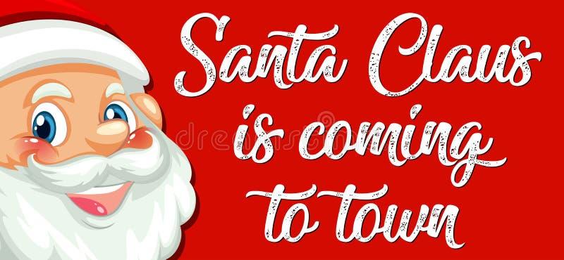 Il Babbo Natale sta venendo alla città illustrazione di stock