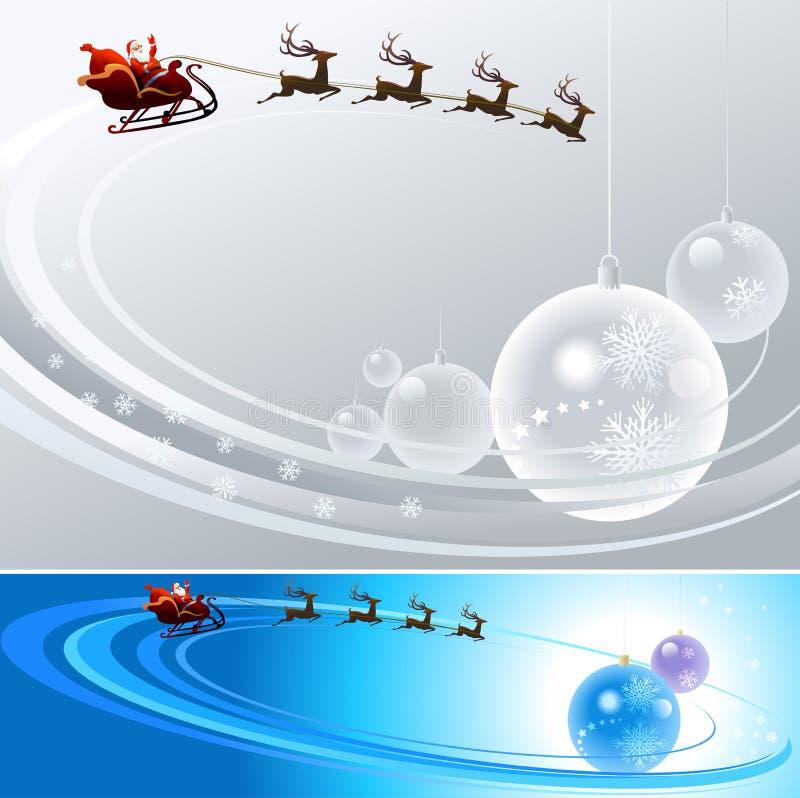Il Babbo Natale sta venendo alla città royalty illustrazione gratis