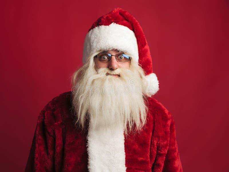 Il Babbo Natale stupito fotografie stock libere da diritti