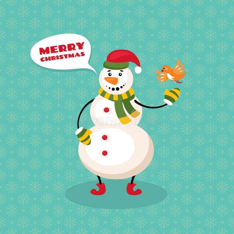 Il Babbo Natale su una slitta royalty illustrazione gratis