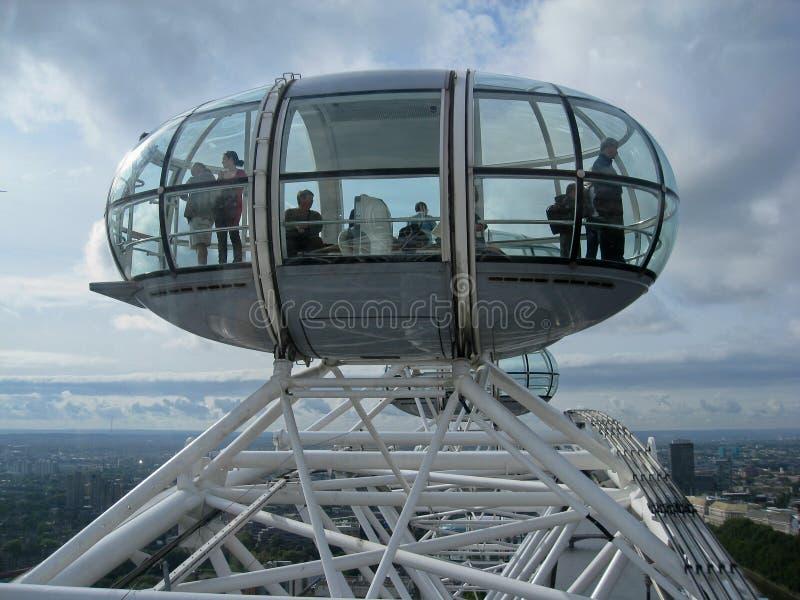 Il baccello dell'occhio di Londra fotografie stock libere da diritti