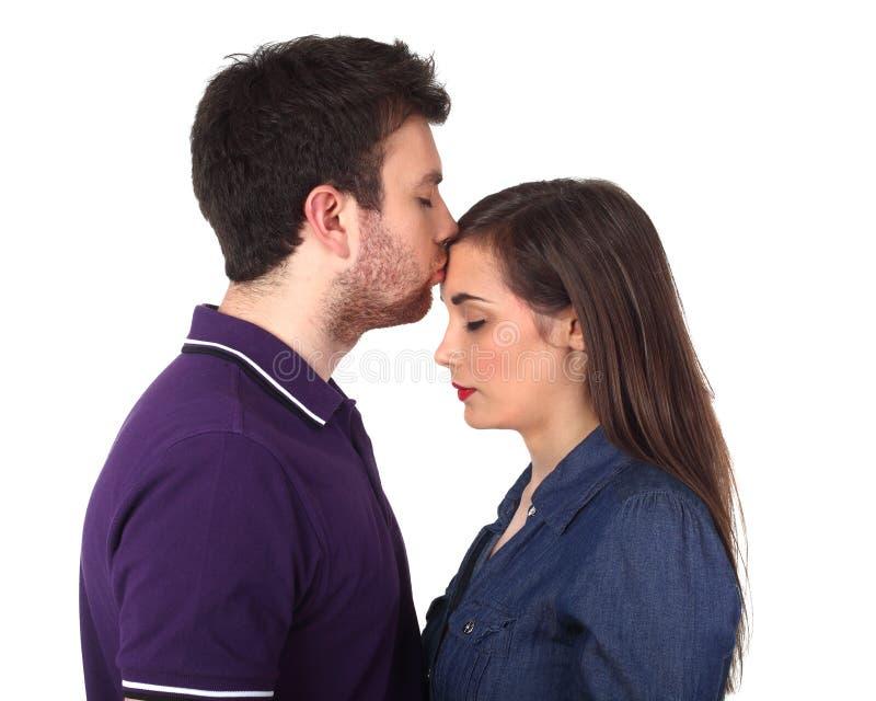 Il bacio fotografie stock libere da diritti