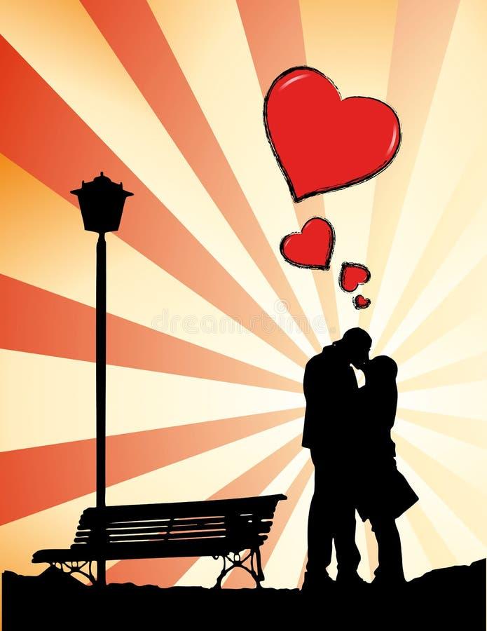 Il bacio illustrazione vettoriale