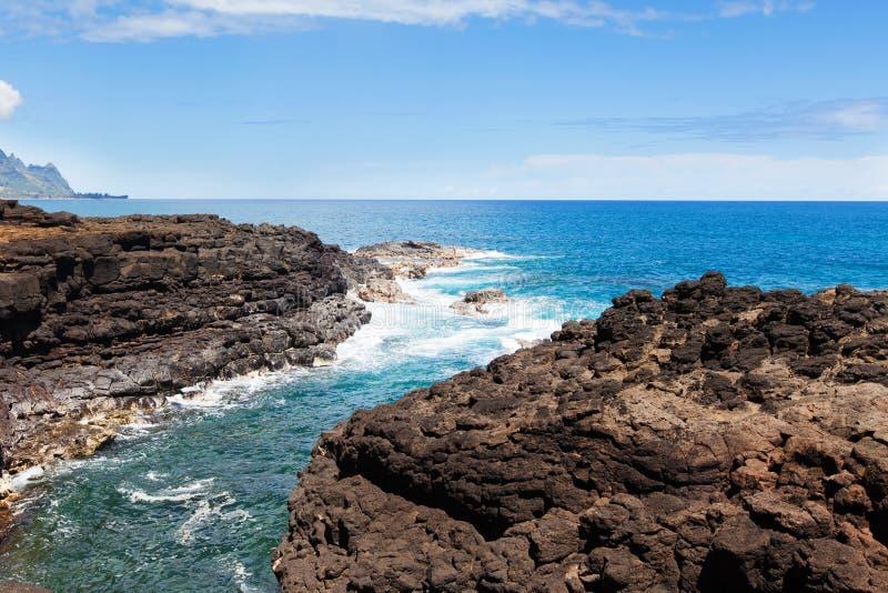 Il bagno della regina a Kauai immagini stock libere da diritti