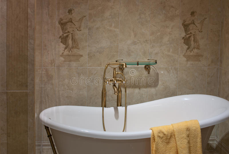 Il bagno, interiore, decora