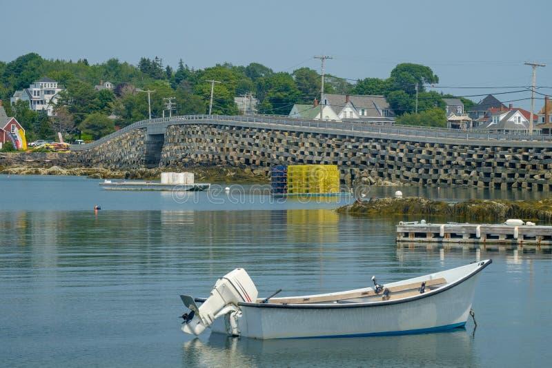 Il Bailey al ponte di stile di cribstone dell'isola di Orr è quello solo fotografie stock libere da diritti