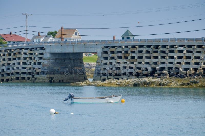 Il Bailey al ponte di stile di cribstone dell'isola di Orr è quello solo fotografia stock libera da diritti