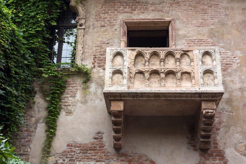 Il balcone del Juliet famoso fotografia stock