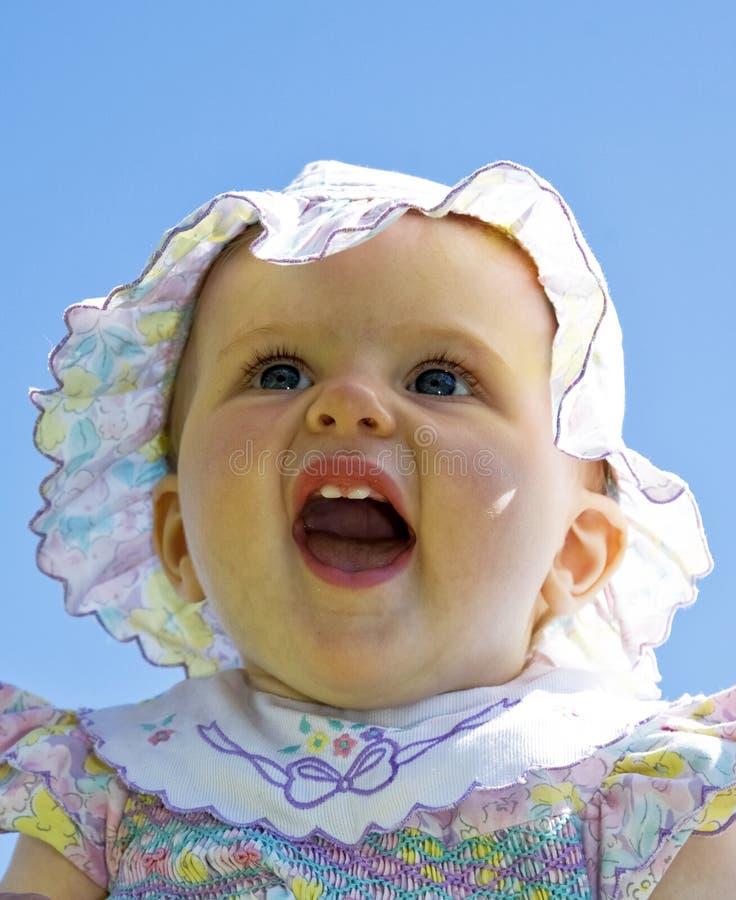 Il bambino allegro fotografia stock