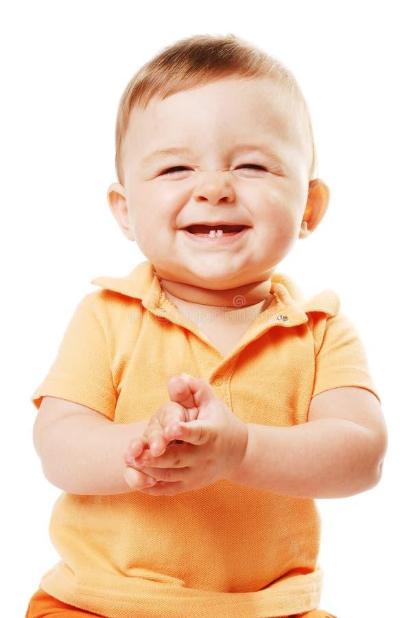 Il bambino di risata fotografia stock libera da diritti