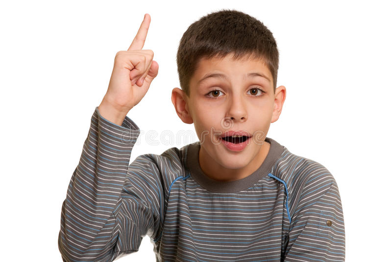 Il bambino fa appello a ai cieli immagine stock libera da diritti