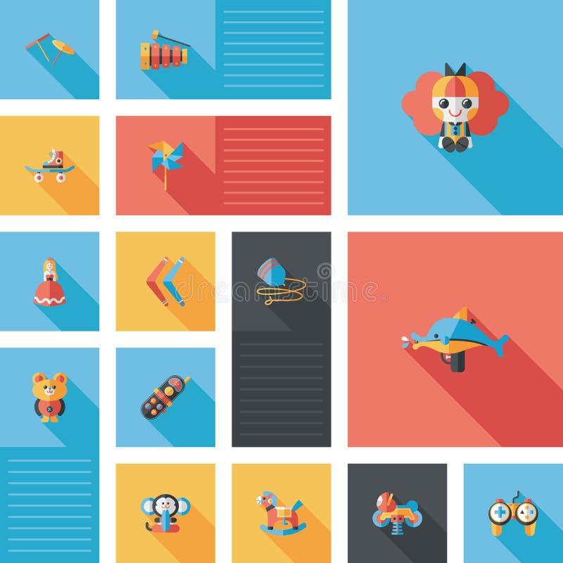 Il bambino gioca il fondo piano di ui, eps10 illustrazione vettoriale