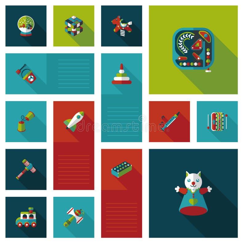 Il bambino gioca il fondo piano di ui, eps10 illustrazione di stock