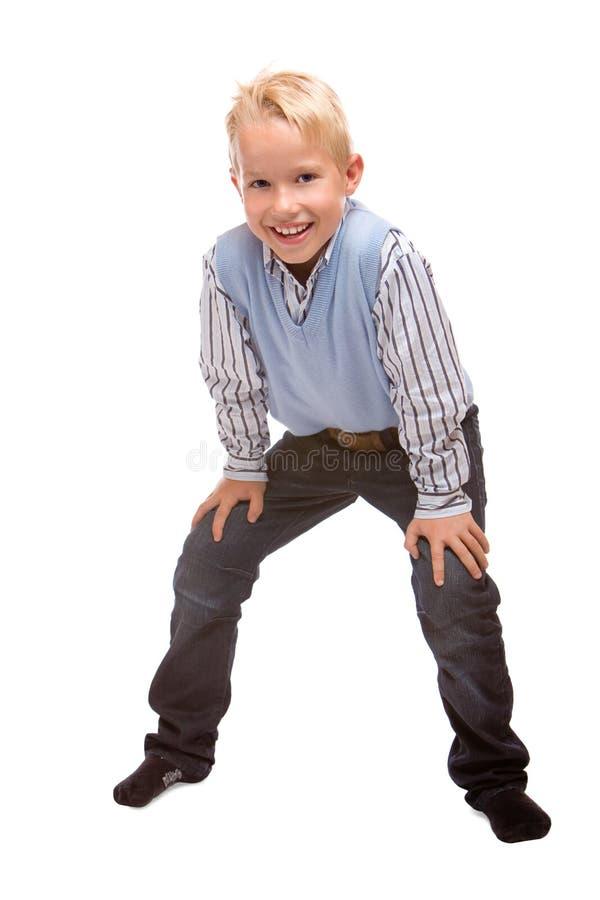 Il bambino in giovane età sorride felice fotografie stock libere da diritti