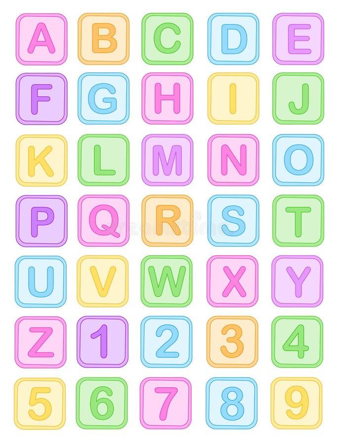 Il bambino ostruisce l alfabeto