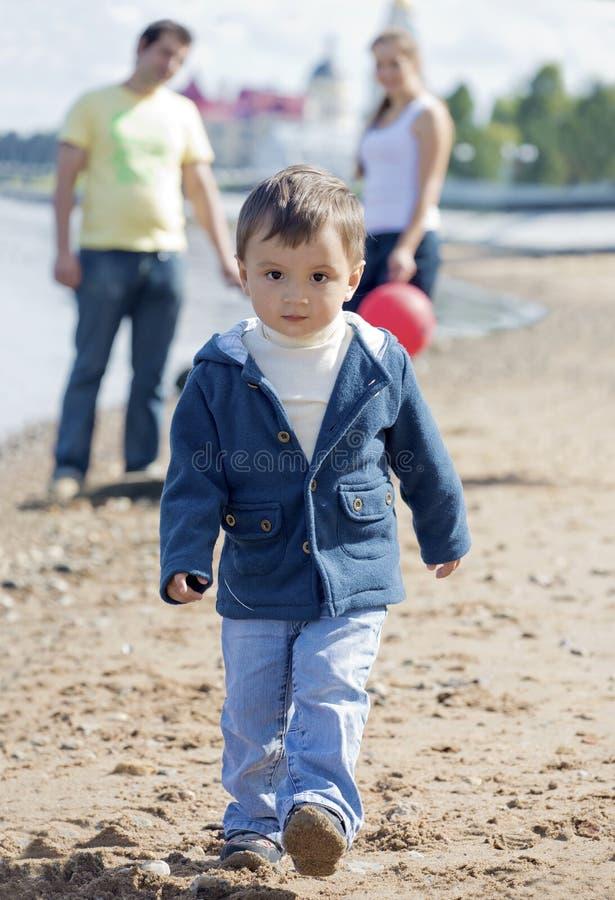 Il bambino sicuro fotografia stock