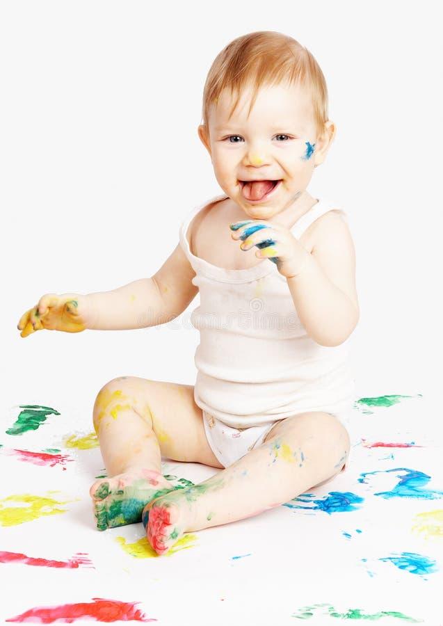 Download Il bambino sorridente fotografia stock. Immagine di bambino - 3894156