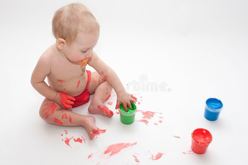 Il bambino sta dissipando fotografia stock libera da diritti