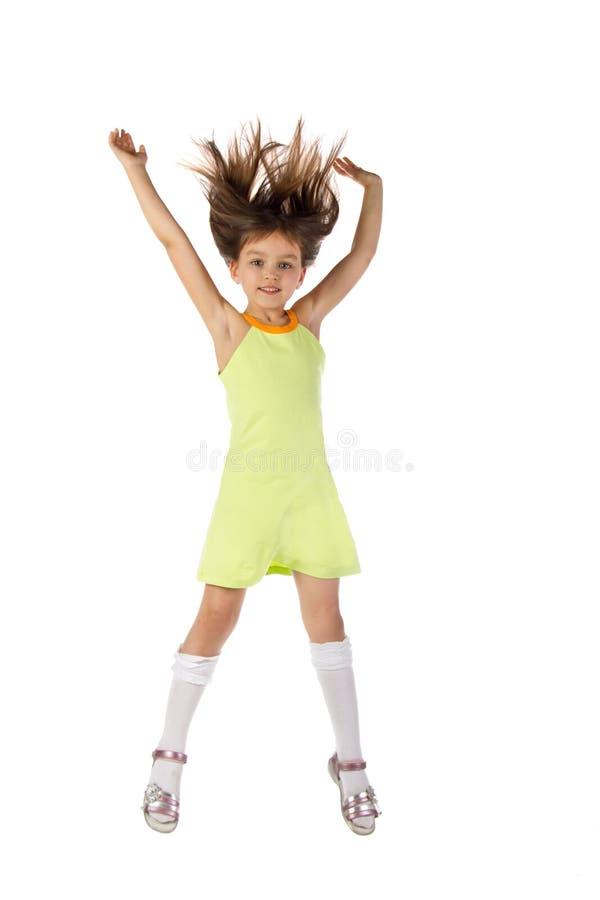 Il bambino una ragazza che salta e che balla immagine - Colorazione immagine di una ragazza ...