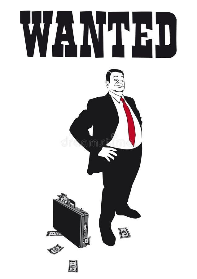 Il banchiere arrogante illustrazione vettoriale