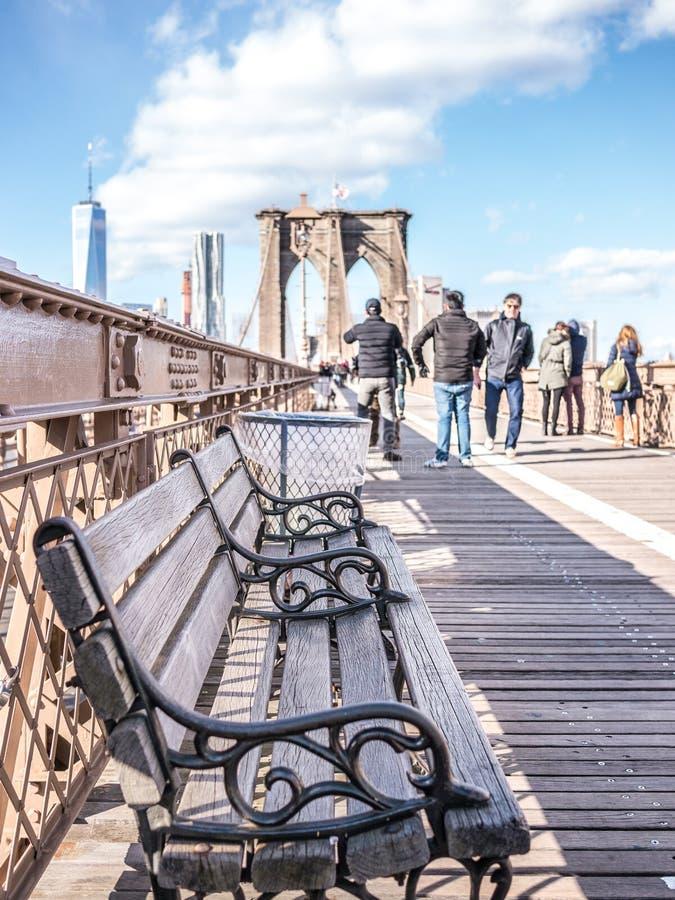 Il banco del ponte fotografia stock libera da diritti
