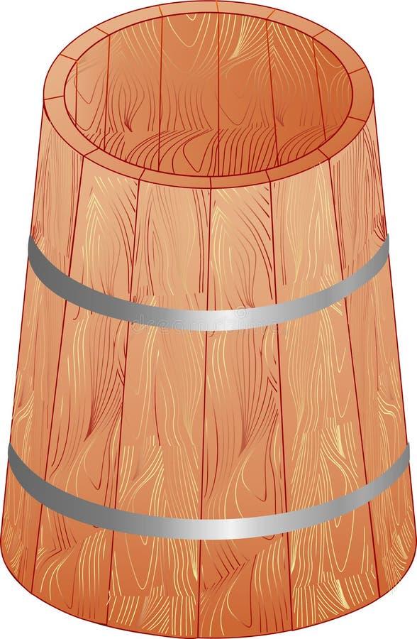 Il barilotto di legno illustrazione vettoriale
