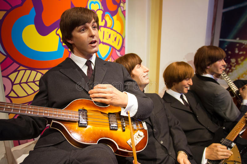 Il Beatles a signora Tussauds London Regno Unito fotografie stock