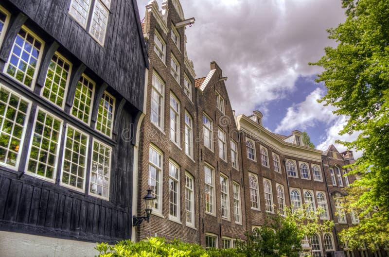 Il begijnhof a Amsterdam fotografia stock