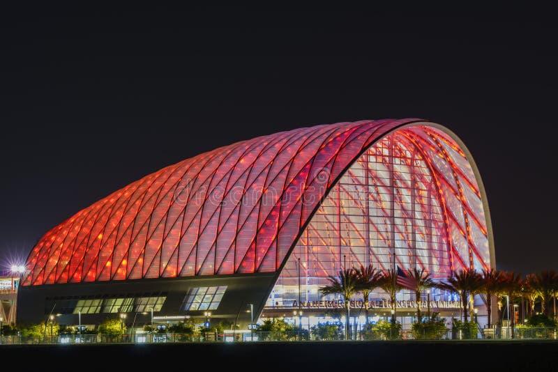 Il bello centro intermodale regionale di transito di Anaheim immagini stock