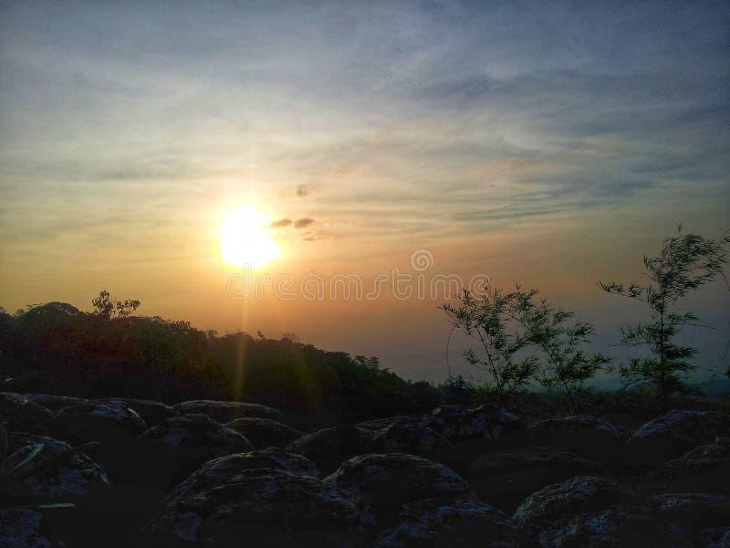 Il bello di luce solare fotografie stock