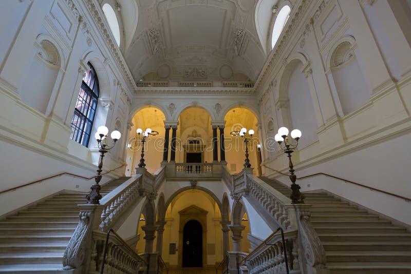 Il bello interno dell'università di Vienna, ha chiamato Universitaet Wien in Deutsch, università pubblica a Vienna, Austria fotografie stock
