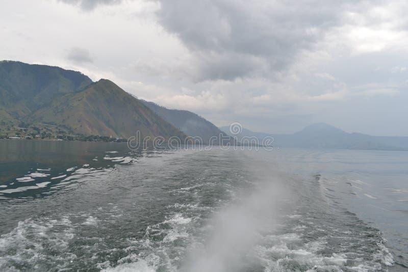 Il bello lago Indonesia Toba fotografia stock