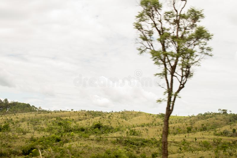 Il bello paesaggio con montain verde fotografie stock libere da diritti