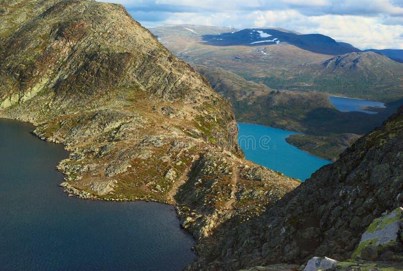 Il Besseggen Ridge nella sosta nazionale di Jotunheimen immagine stock