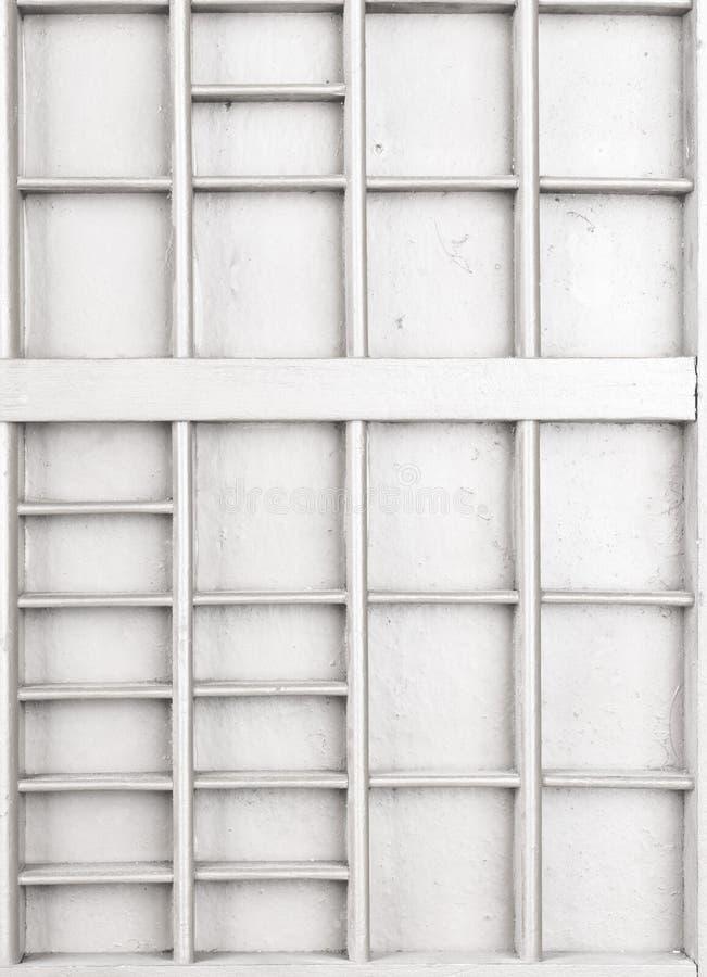 Il bianco di legno vuoto ha dipinto il seme o le lettere o la scatola dei collectibles fotografia stock libera da diritti