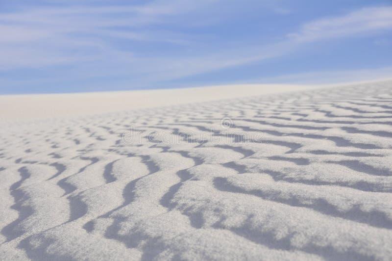 Il bianco insabbia il monumento nazionale, New Mexico (U.S.A.) fotografia stock libera da diritti
