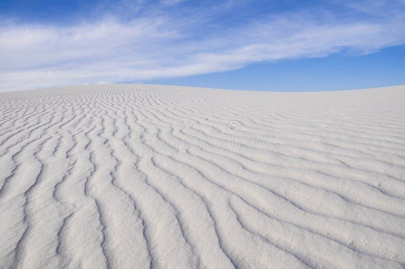 Il bianco insabbia il monumento nazionale, New Mexico (U.S.A.) fotografia stock