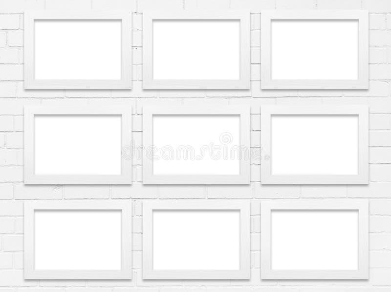 Il bianco pagina la parete della galleria fotografia stock