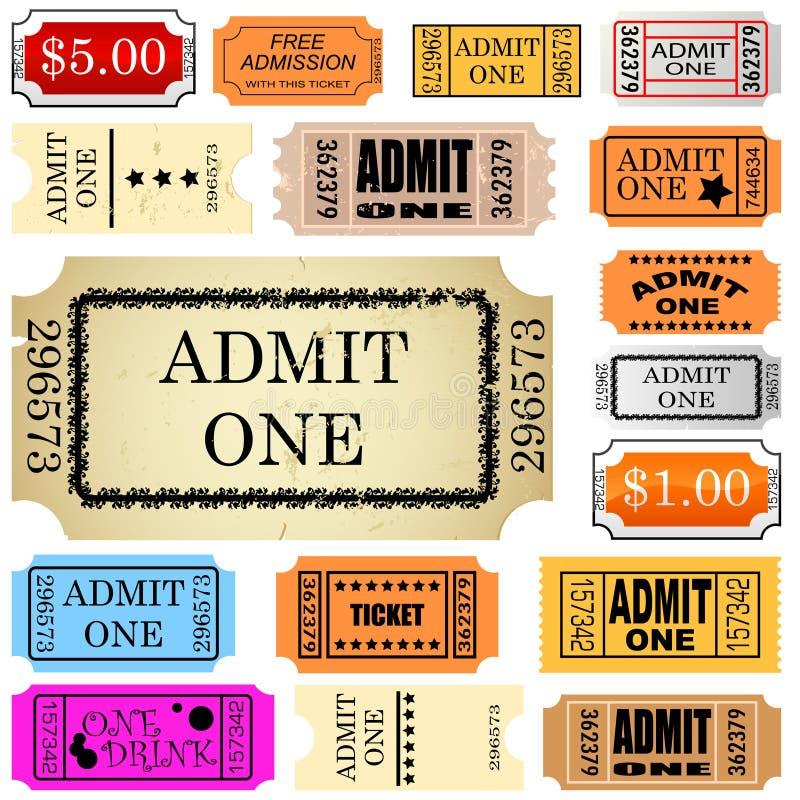 Il biglietto ammette uno royalty illustrazione gratis