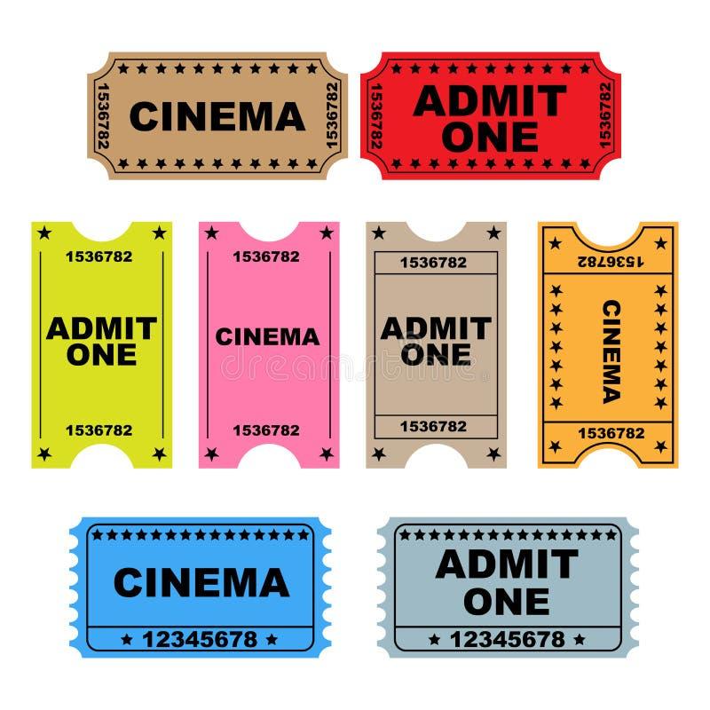 Il biglietto ammette uno - insieme illustrazione di stock
