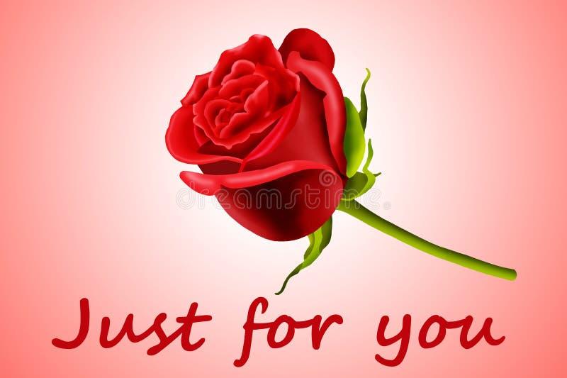 Il biglietto di S. Valentino è aumentato illustrazione vettoriale