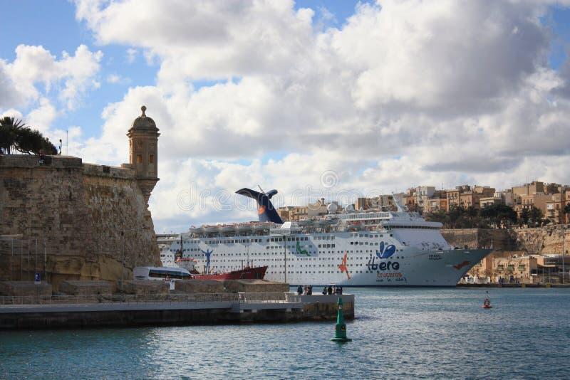 Il-birgu Malta royaltyfria foton