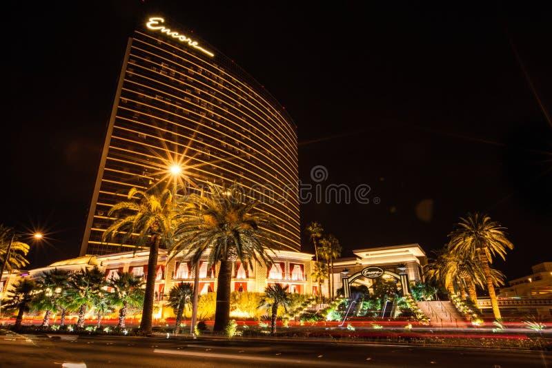 Località di soggiorno e casinò di Las Vegas di bis immagini stock libere da diritti