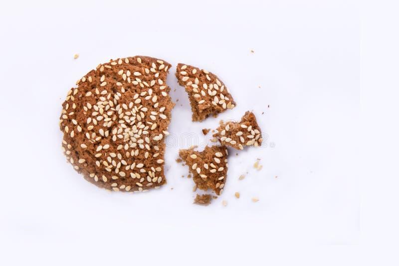 Il biscotto con le briciole al di sopra osserva, spazia per testo fotografie stock